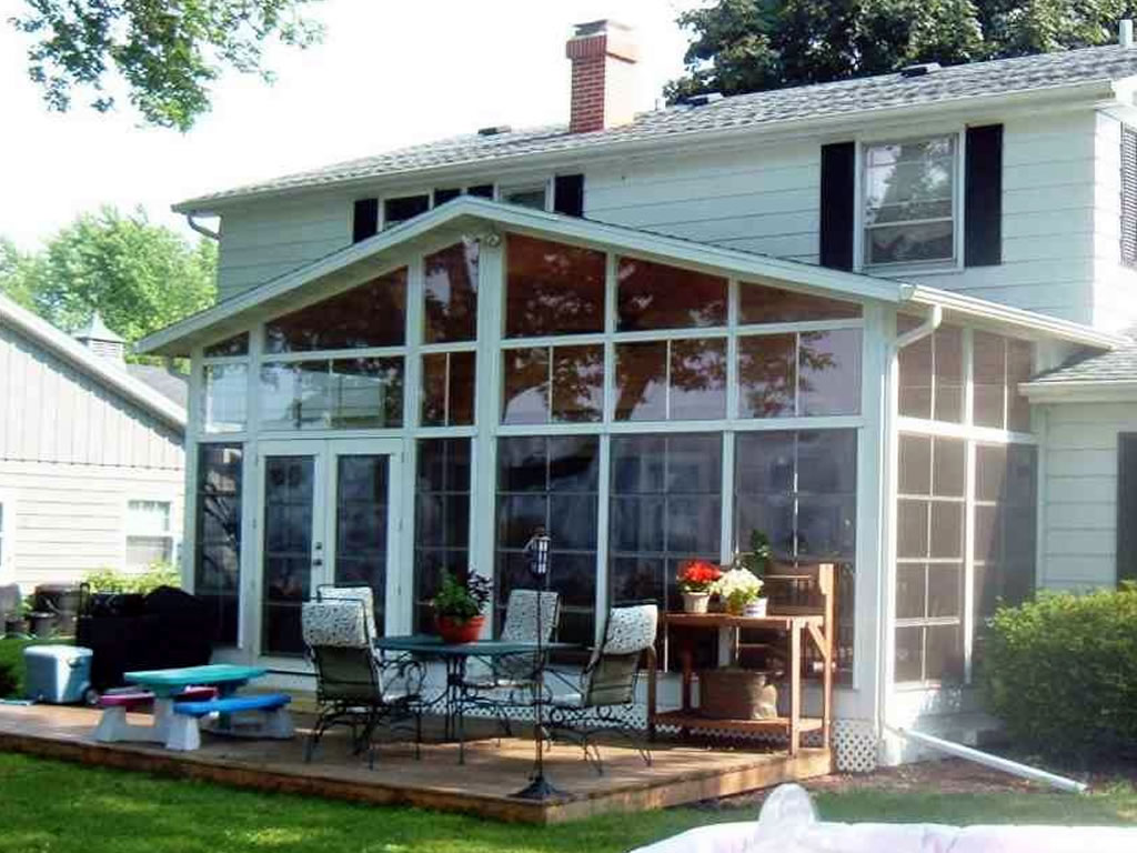 Sunrooms three season rooms porch enclosures sun comfort for Porch sunroom